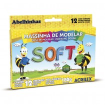 massinha soft 12 cores